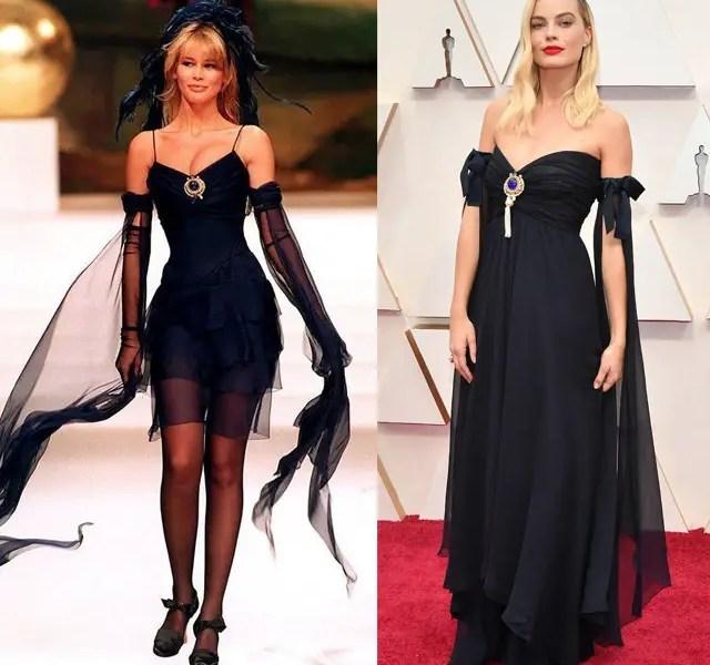 Margot Robbie Looks Classy In Vintage Chanel Dress For 2020 Oscars