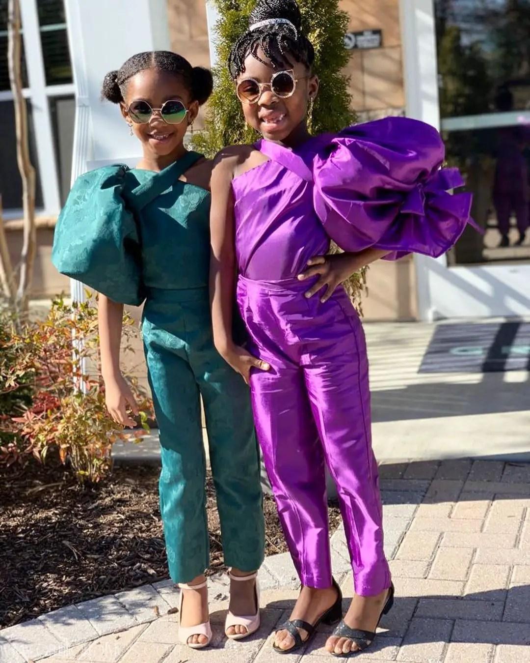 Adorable Girls Recreate Outfits By Lupita Nyong'o And Chimamanda Adichie