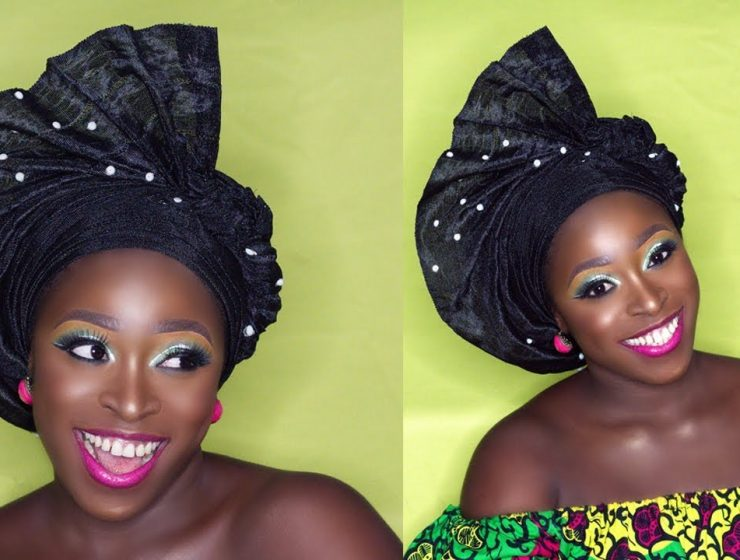 Simple Fan Gele Tying Tutorial For Beginners