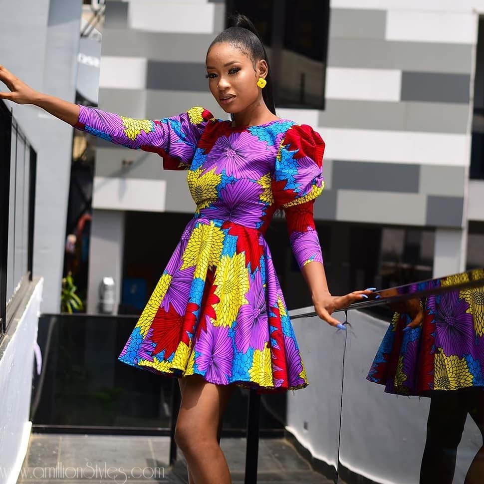 Enjoy These 9 Simple Short Ankara Gowns