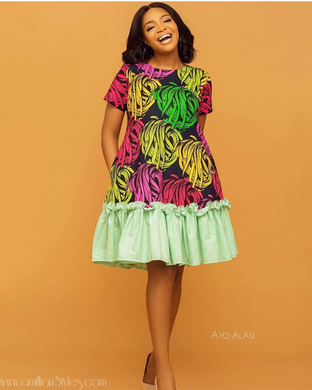 Enjoy These 10 Simple Short Ankara Gowns- Part 1