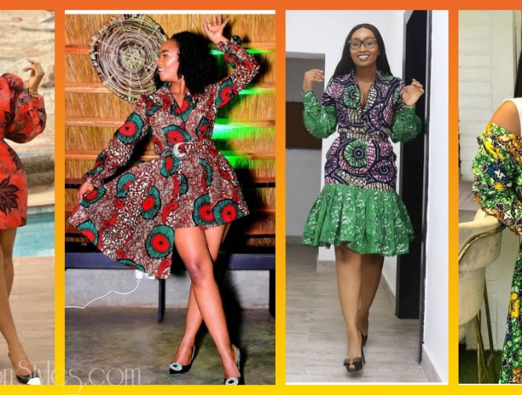 Enjoy These 9 Simple Short Ankara Gowns
