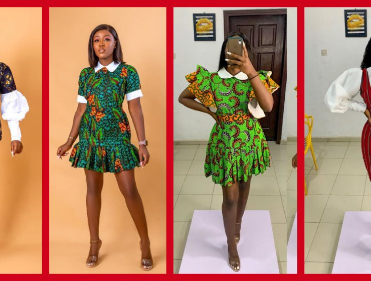 See These 8 Beautiful White Collar Ankara Dress Styles