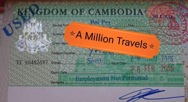 Cambodia Visa in Poipet Siem Reap