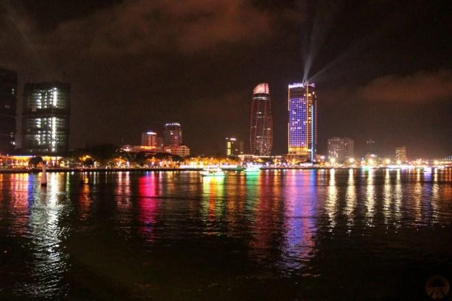 DaNang at night – view from Barney's danang hostel – backpackers hostel