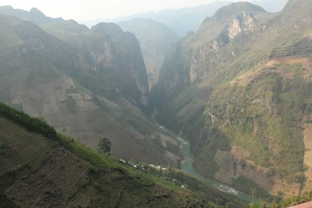 Vista sul canyon provincia di ha giang