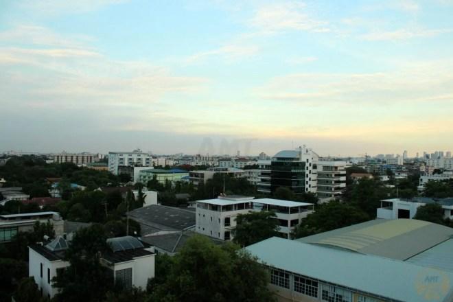 Bangkok's skyline at sunset