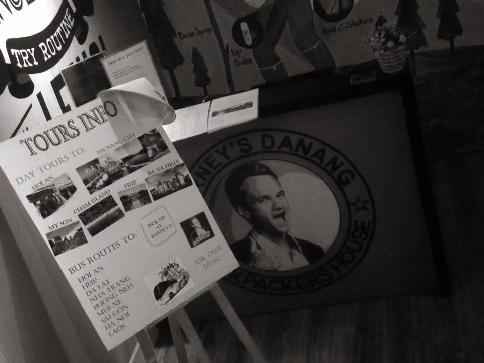 Barney Stinson! tour da nang hostel