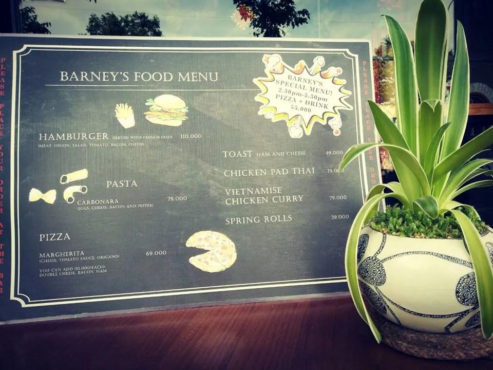 Barney's food - backpacker hostel
