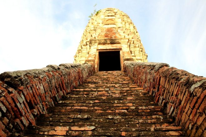 Narrow stairs of Wat Chai Watthanaram