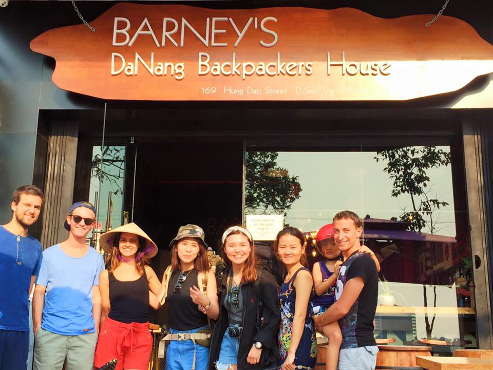 Enjoying Barney's hostel Danang