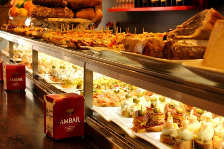Pintxos: typical Basque dish. Where to eat Barcelona restaurant