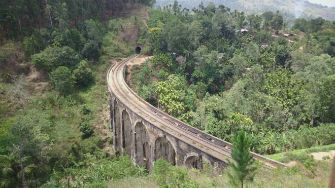9 Arches Bridge, view from above, Ella, Sri Lanka