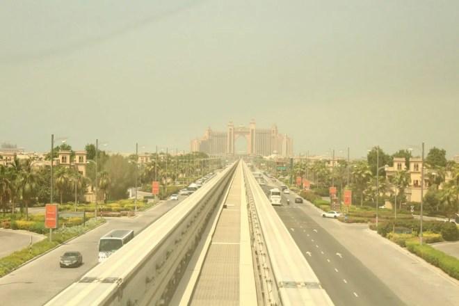 Massive Atlantis Hotel at the top of Palm Jumeirah