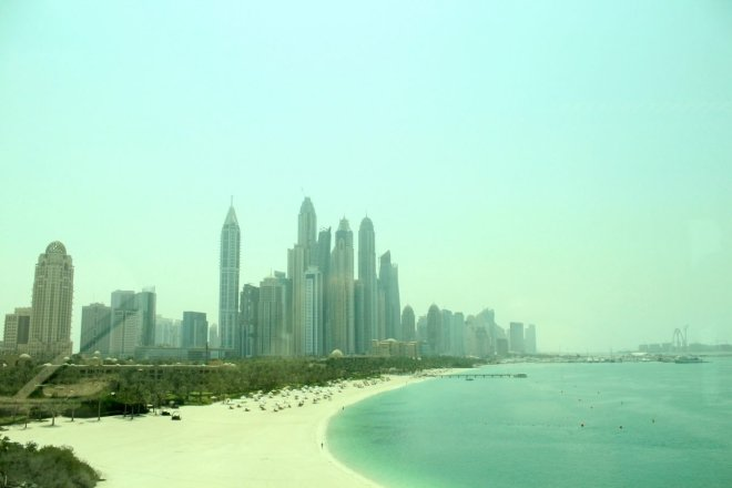 View of Marina from Palm Jumeirah, Dubai