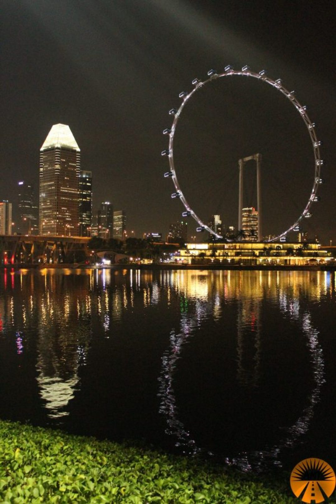 View on the ferris wheel, Singapore