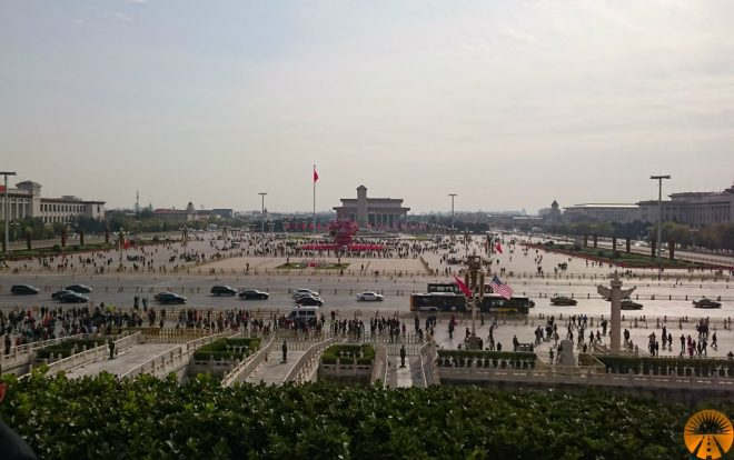 Panoramic view Tian'anmen Square