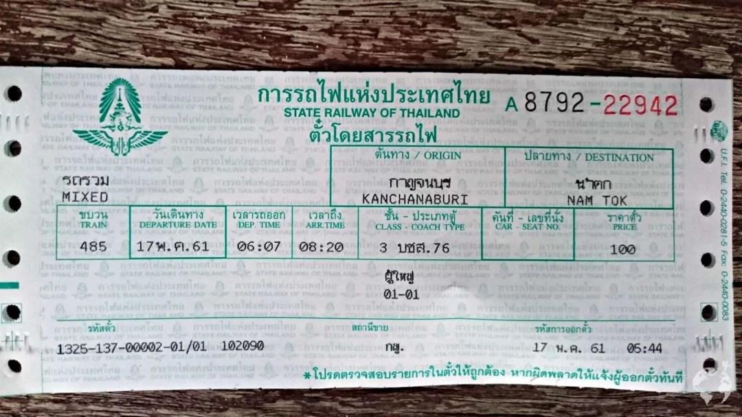 Kanchanaburi Death Railway how to buy ticket
