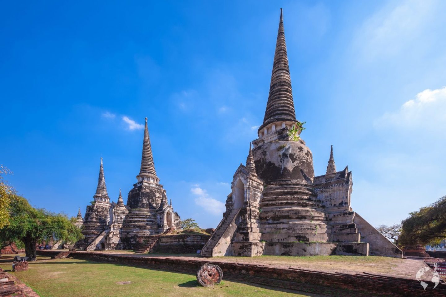 temple with 3 chedi Ayutthaya