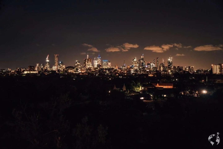 Night Skyline Melbourne