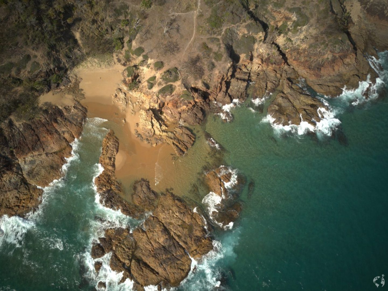 Agnes Water beach drone shot