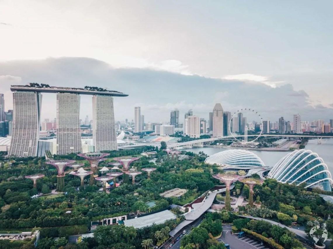Singapore drone shot