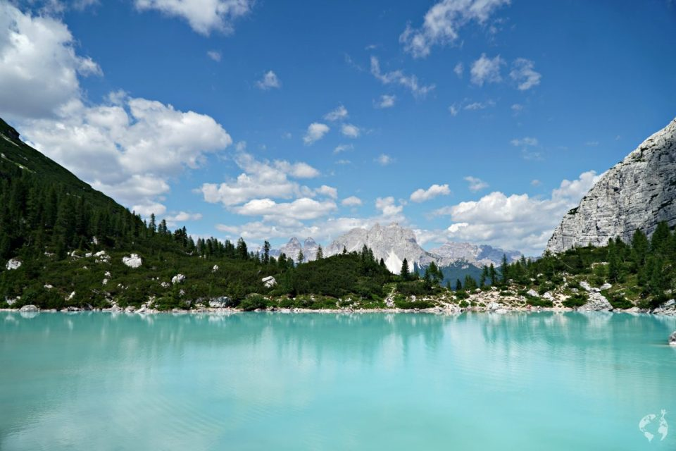 by bus to sorapis lake cortina d'ampezzo