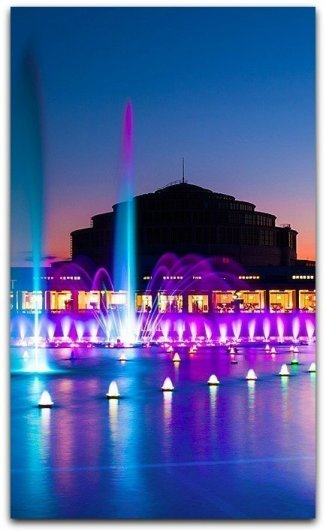 wroclaw light fountain show how to go