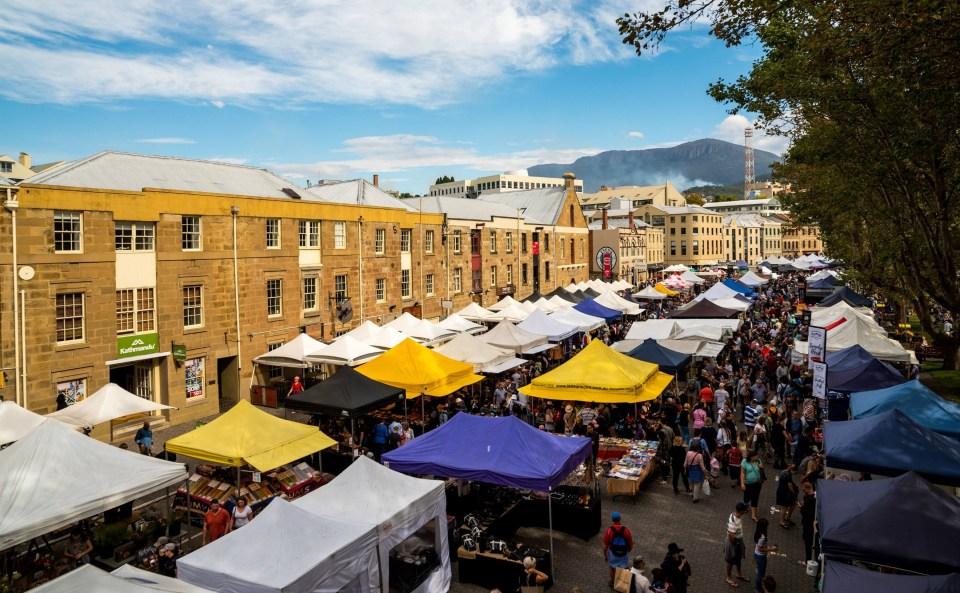 cosa vedere a Hobart Salamanca Market