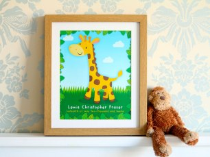 Giraffe Print Framed