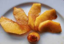 guarnicion de manzanas caramelizadas
