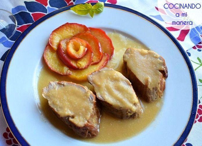 receta de solomillo en salsa de manzana