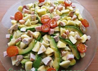 ensalada de pollo y manzana