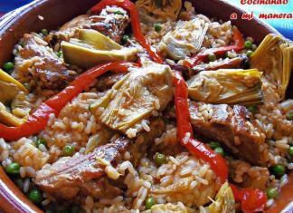 arroz con costillas y verduras