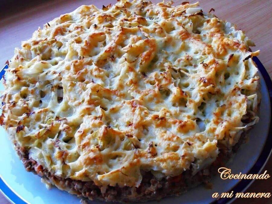 Pastel de repollo y carne - Como cocinar carne picada ...