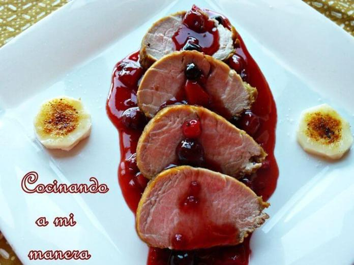 Solomillo En Salsa De Frutos Rojos