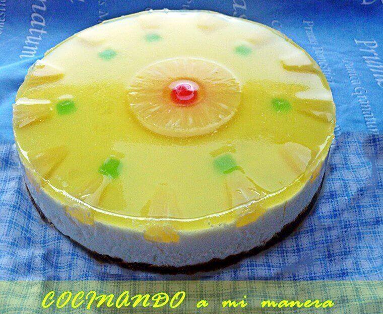 tarta de piña fria