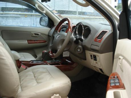 new Toyota Hilux Vigo Double Cab with leather seating and teak work at Thailand's most trusted Toyota Hilux Vigo dealer Jack Motors Thailand