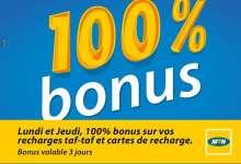 MTN 100% Recharge Bonus Janvier - Lundi+Jeudi-04