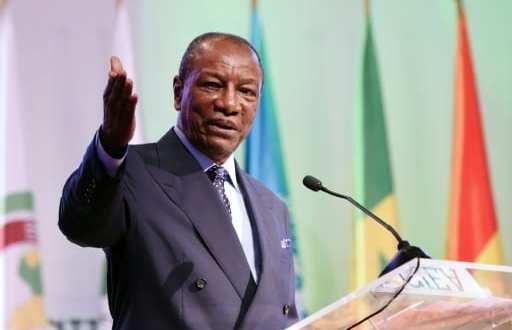 Le président guinéen Alpha Condé fait une déclaration à l'ouverture d'une conférence internationale sur l'émergence du continent africain, le 28 mars 2017 à Abidjan | AFP | SIA KAMBOU