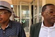 Moussa Dadis Camara et Papa Koly Kourouma à Ouagadougou (crédit photo: Tokpa Jean Victoire)