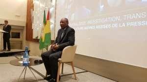 Alpha Condé, président de la Guinée lors des 46èmes assises de la presse francophone (C.R: Alimou Sow)