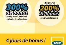Désormais, MTN vous offre 4 jours de bonus
