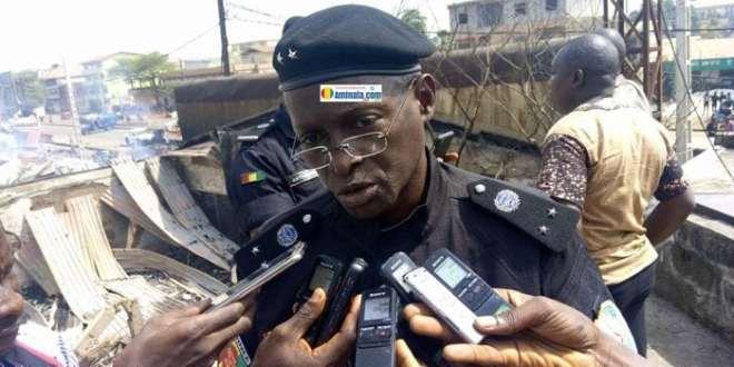 Le commissaire Boubacar Kassé, porte-parole de la police