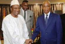 Lors d'une rencontre entre Alpha Condé et son opposant Cellou Dalein Diallo