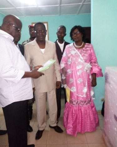 La directrice de l'ONSPA et le ministre de la pêche