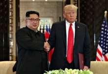 Kim Jon Un et Donald Trump lors de leur rencontre historique à Singapour