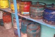Un magasin de vente des bouteilles de gaz domestique à Lambanyi (Conakry)