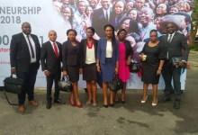 Fanta Kaba, chargée de Marketing UBA Guinée avec ses collègues chargés de communication des différentes représentations de la Banque en Afrique