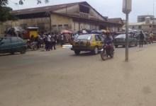 Une rue de Kaloum où des élèves avaient manifesté pour réclamer des enseignants
